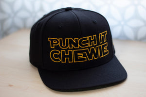 Punch It Chewie Hat Star Wars Quote Front Right