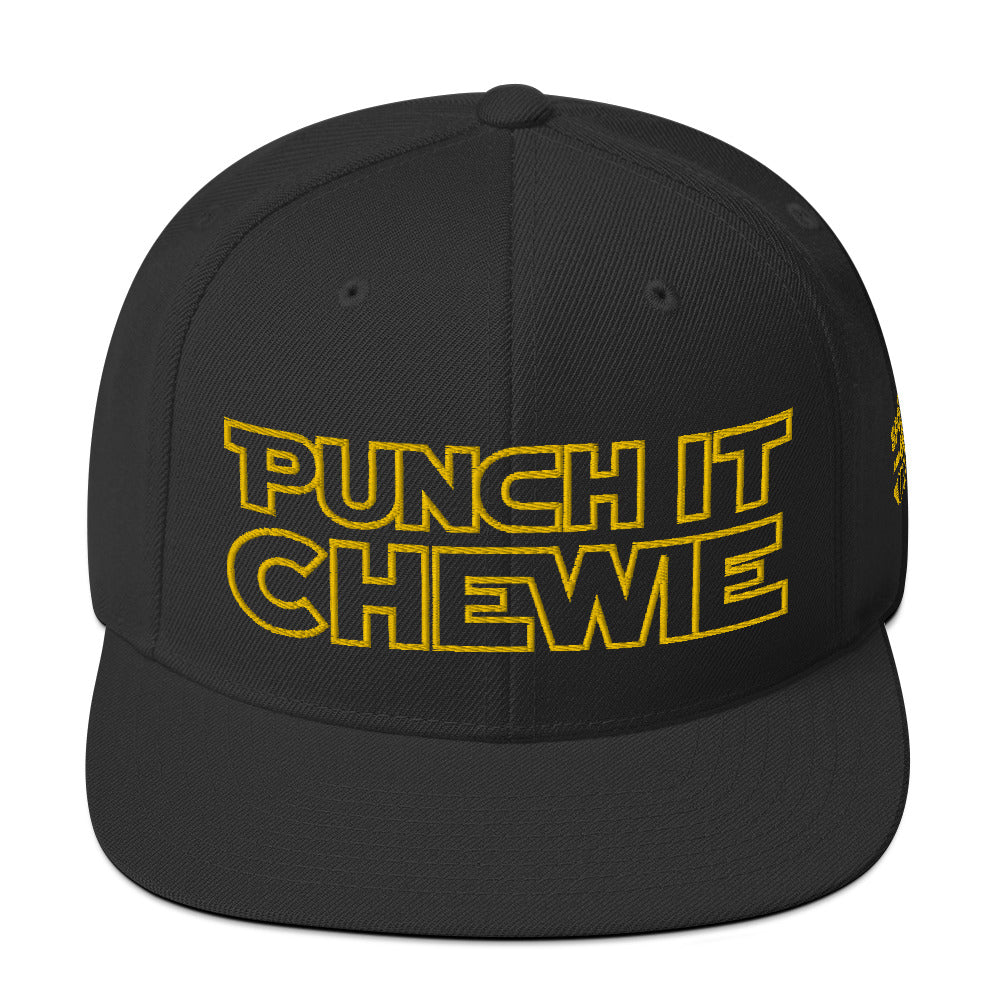 Punch It Chewie Hat Star Wars Quote Front