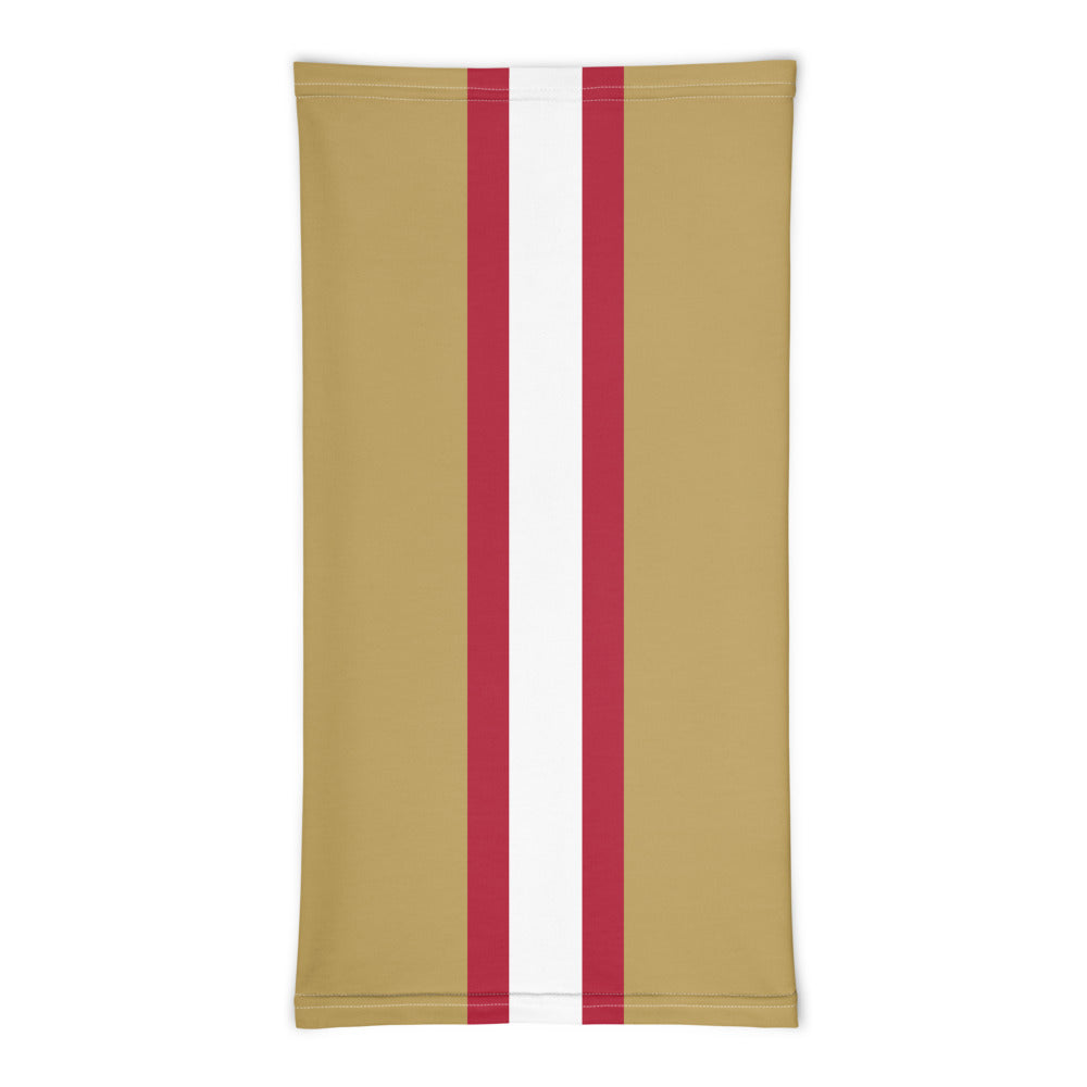 San Francisco 49ers Style Neck Gaiter Tube Flat Front