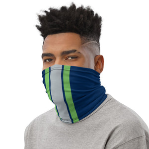 Load image into Gallery viewer, Seattle Seahawks Style Neck Gaiter as Face Mask on Man Left