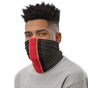 Load image into Gallery viewer, Tampa Bay Buccaneers Style Neck Gaiter as Face Mask on Man Left