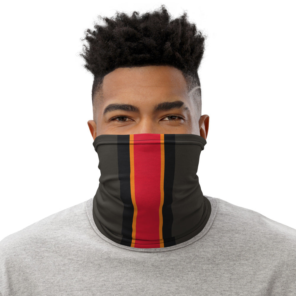 Load image into Gallery viewer, Tampa Bay Buccaneers Style Neck Gaiter as Face Mask on Man