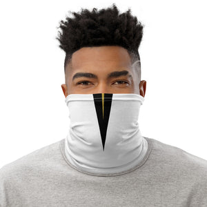 UCF Knights Style Neck Gaiter as Face Mask on Man