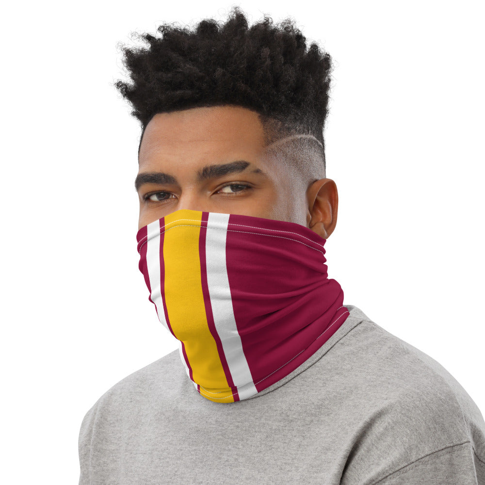 Load image into Gallery viewer, Washington Football Team Style Neck Gaiter as Face Mask on Man Left