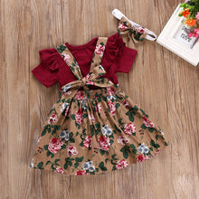 Load image into Gallery viewer, Romper Strap Dress Headbands Toddler Infant Clothing