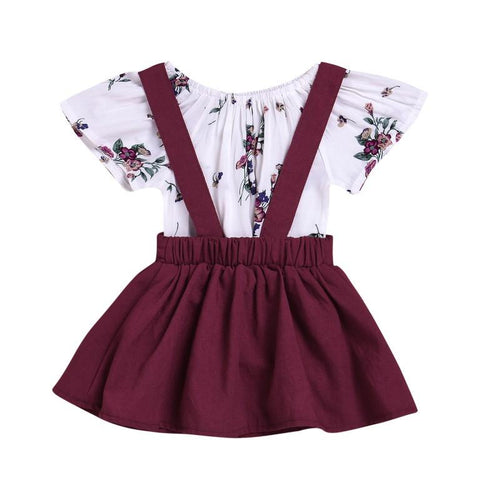 2pcs Suspender Skirt Set Girl Clothes Baby girl