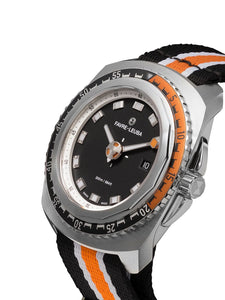 Deep Blue with  Orange + Black Strap