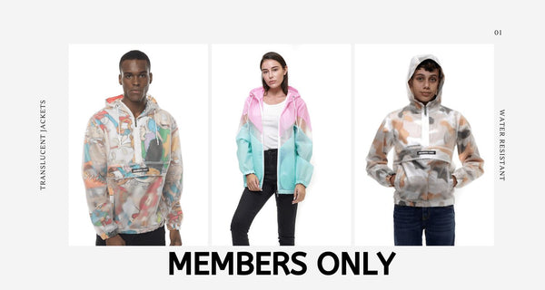 Members Only Color Block Translucent Jacket