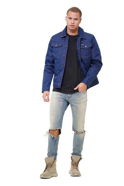 MM010024 - TRUCKER JACKET - NAVY