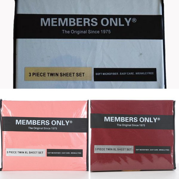 MEMBERS ONLY SOLID MICRO-FIBER SHEET SET