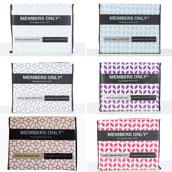 MEMBERS ONLY CHEVRON MICRO-FIBER SHEET SET