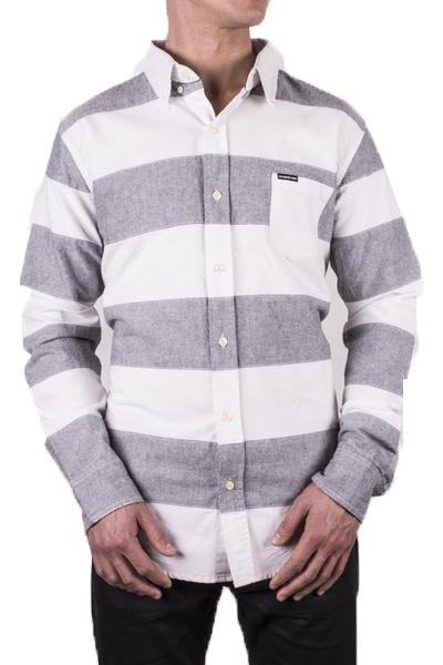 Patched Striped Oxford Shirt - Members Only® Official