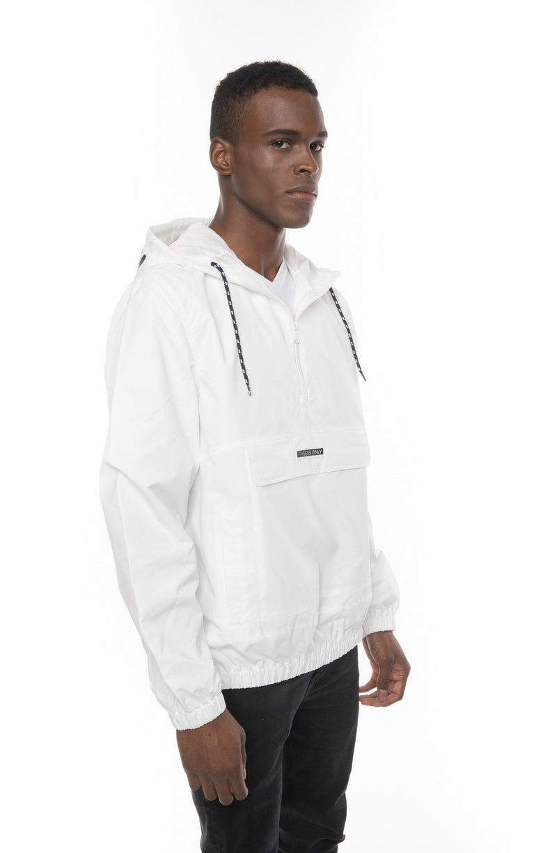 Men's Solid Popover Jacket