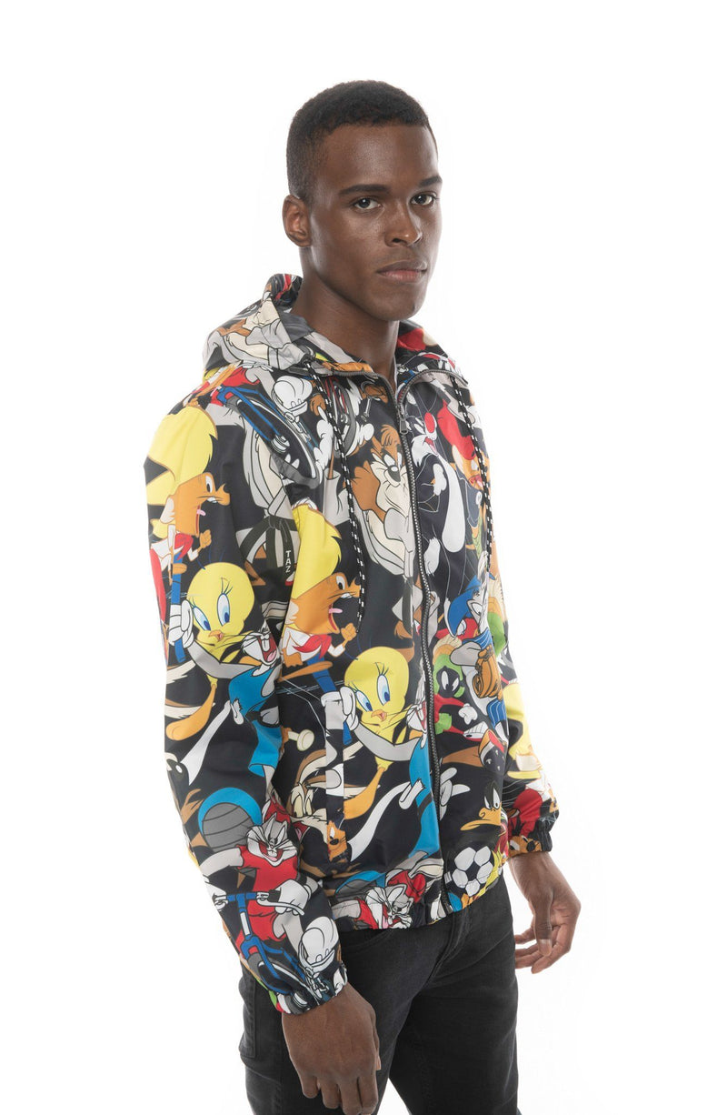Mens Looney Tunes Windbreaker Jacket