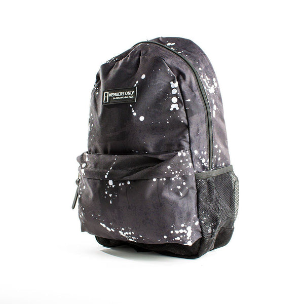 Splatter Print Backpack- Black