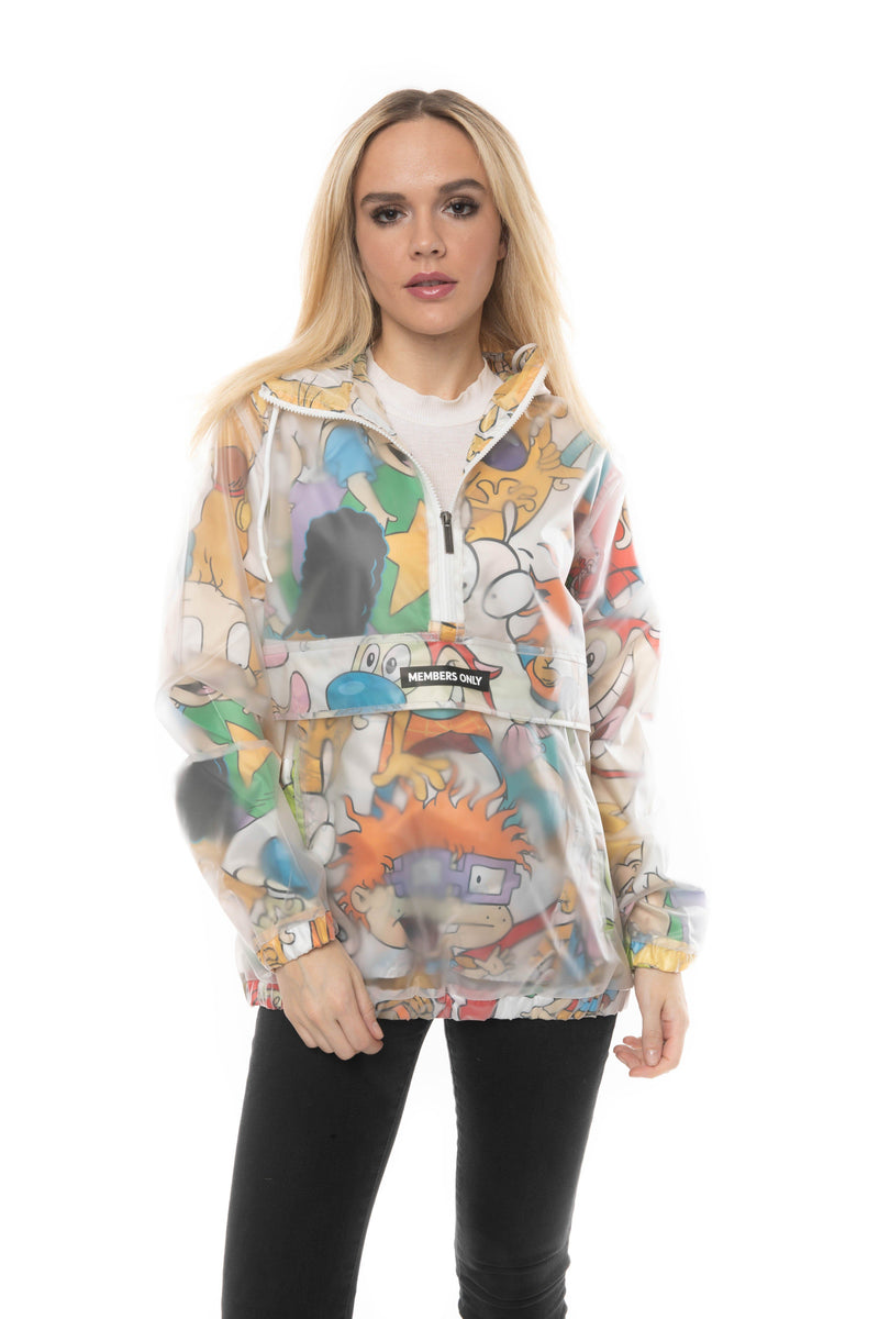 Translucent Nickelodeon Collab Popover Jacket For Women