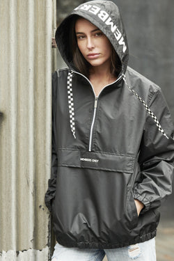 Members Only Women's Poly Taslon Pullover Jacket with hood