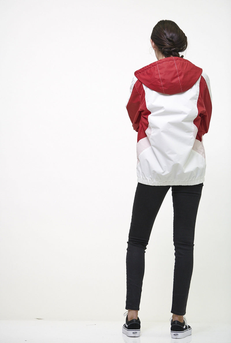 Buy Color Block Poly Taslon Zip Front Jacket for Women