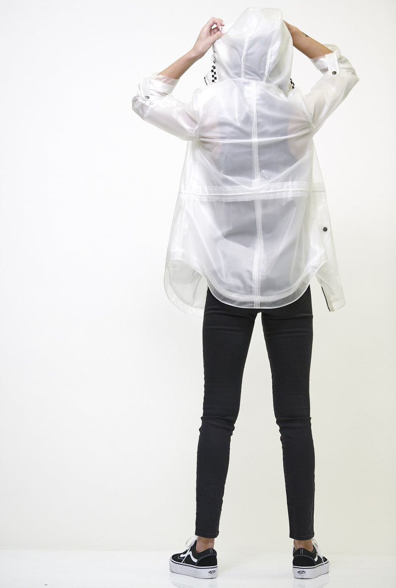 Clearance -Women's Translucent Long Jacket White