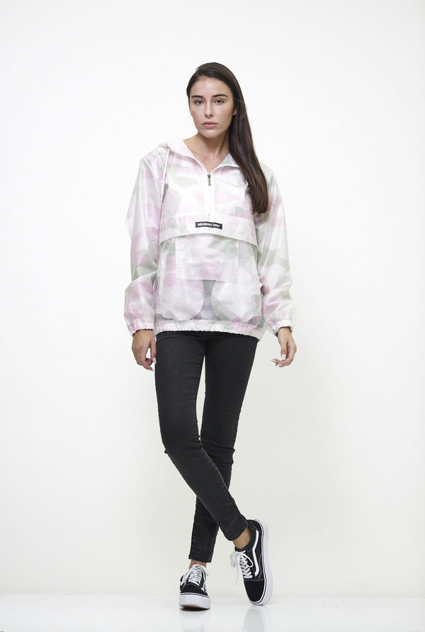 Women's Translucent Pullover Jacket with hood