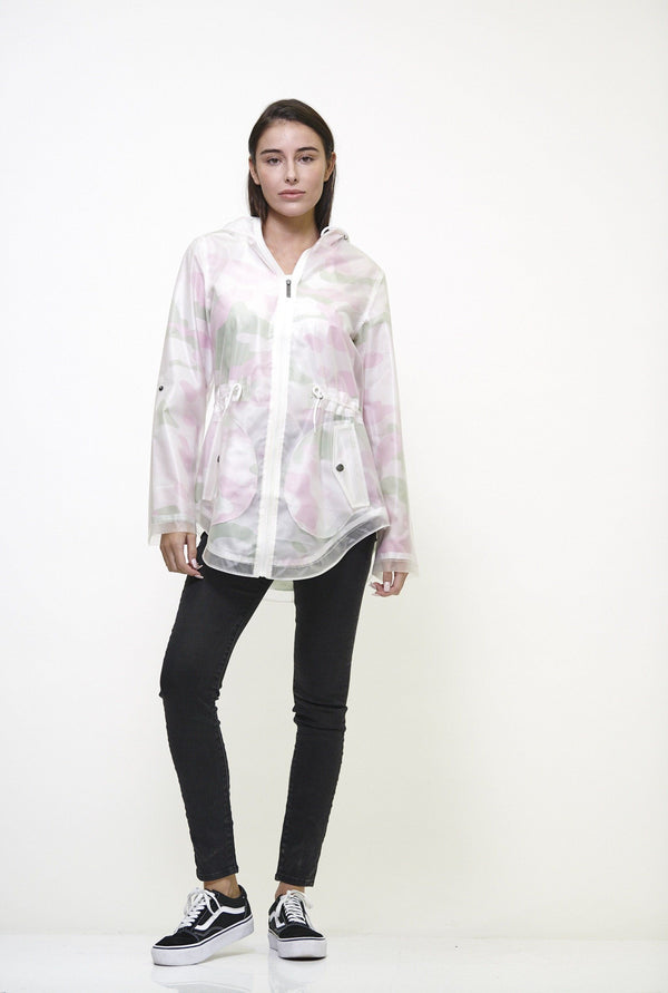 Members Only Women's Translucent Long Jacket