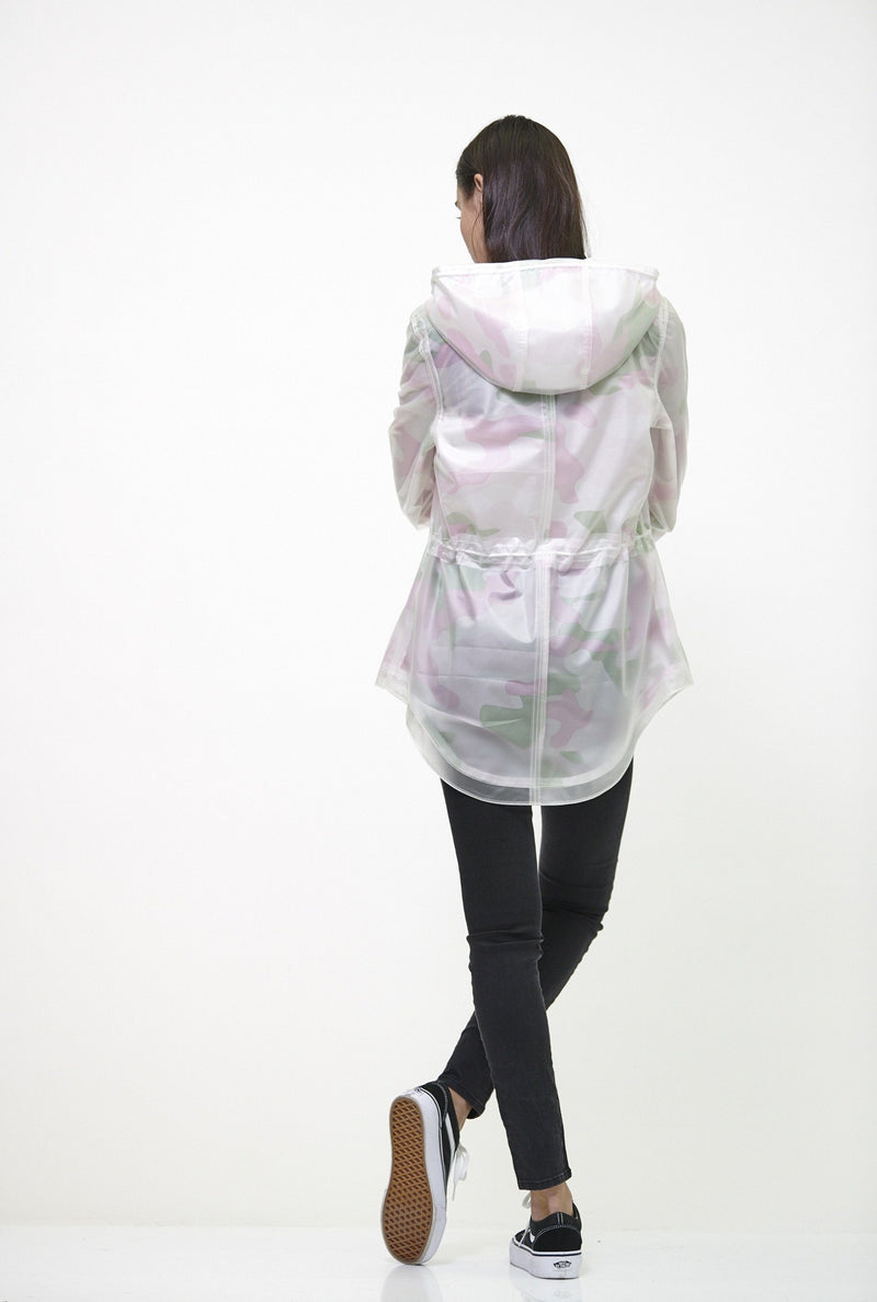 Members Only Clearance -Women's Translucent Long Jacket White