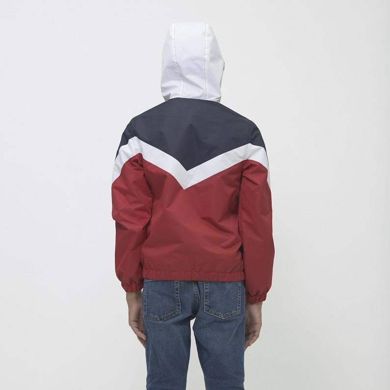 Boy's Color Block Hoodie Jacket