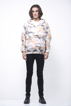 Men's Printed Camo & Transluscent Layering Jacket