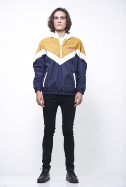 Men's Color Block Pullover Jacket