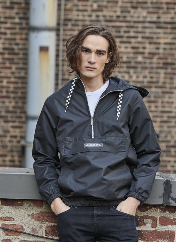 Men's Solid Pullover Jacket