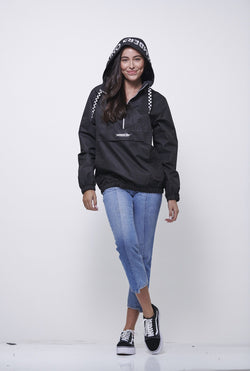 Poly Taslon Pullover Jacket with hood for Women