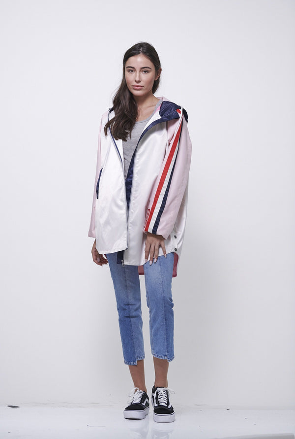 Women's Long Satin Twill Jacket - Members Only