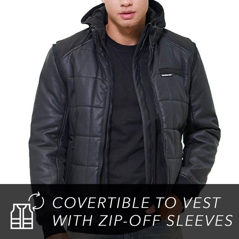 Grid Quilted Bomber Jacket (And Vest) For Men