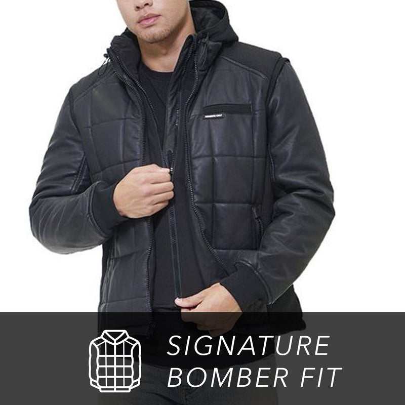 Members Only  Men's Grid Quilted Bomber Jacket (And Vest)
