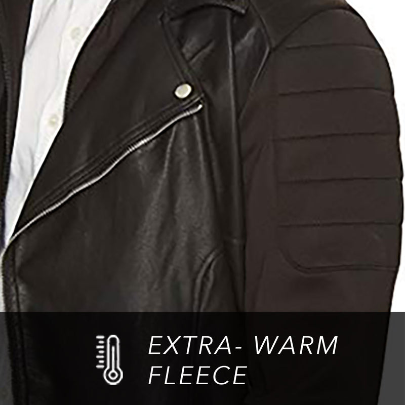 Clearance - Men's Fleece Sleeve Sport Biker Jacket
