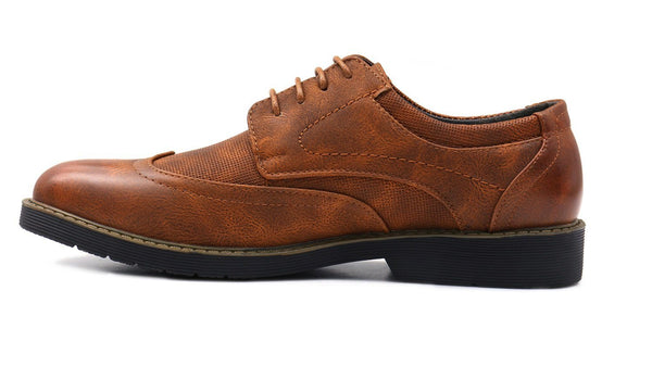 Men's Wingtip Oxford Faux Leather Shoes