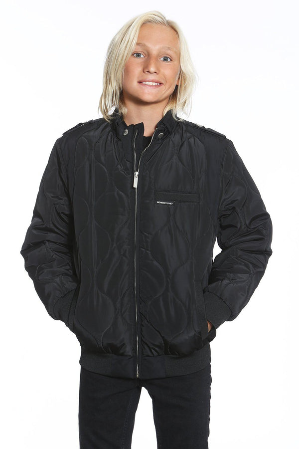 Boy's Oval Quilted Iconic Bomber Jacket - Members Only Official