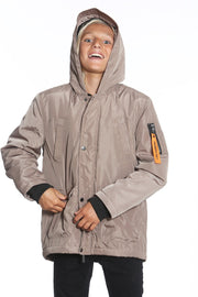 Boy's Satin Mid Weight Anorak