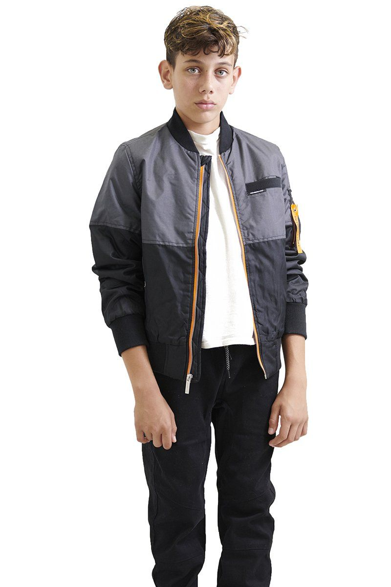 Boy's Flight Satin Two-Tone Bomber Jacket - Members Only Official