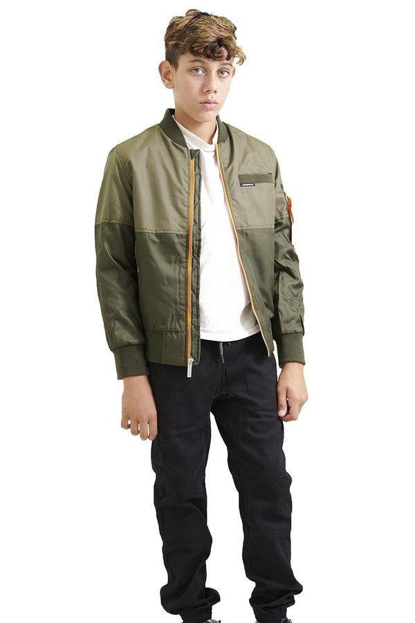 Boy's Flight Satin Two-Tone Bomber Jacket - Members Only® Official