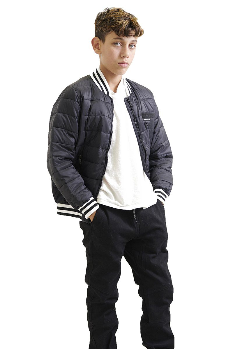 Boy's Down Blend Quilted Bomber Jacket - Members Only Official
