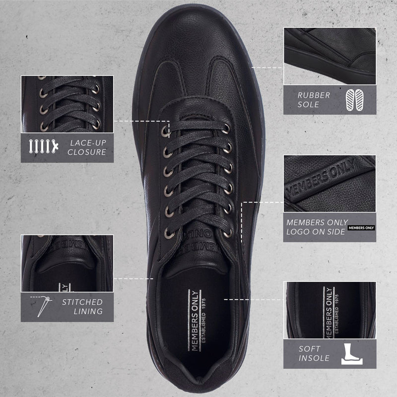Members Only  Retro Low Top Court Sneakers for Men