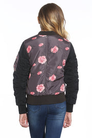 Girl's Quilted Bomber Jacket