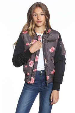 Girl's Quilted Bomber Jacket - Members Onlyå¨ Official