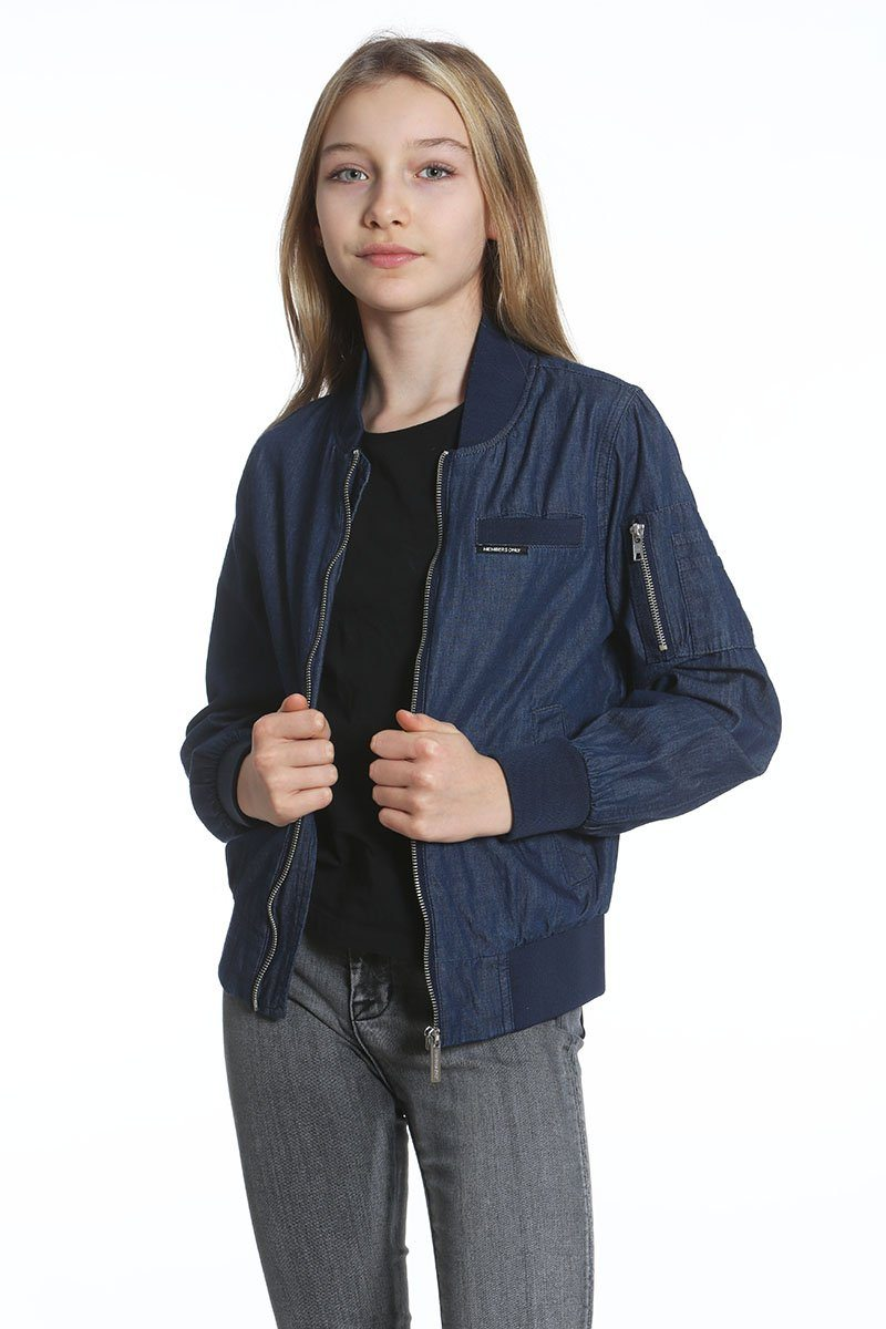 Girl's Cotton Bomber Jacket - Members Only Official