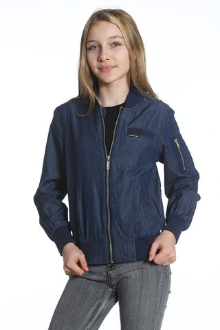 Girl's Cotton Bomber Jacket - Members Only® Official