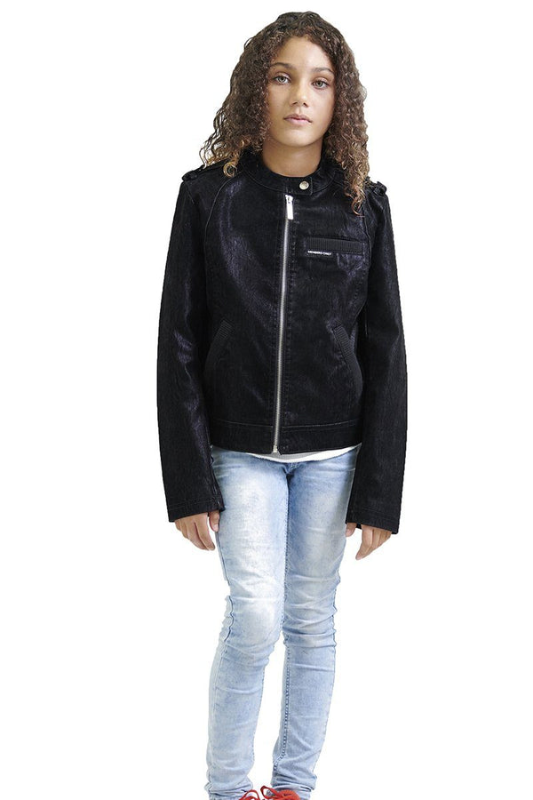 Girl's Iconic Moto Faux Suede Jacket - Members Only Official