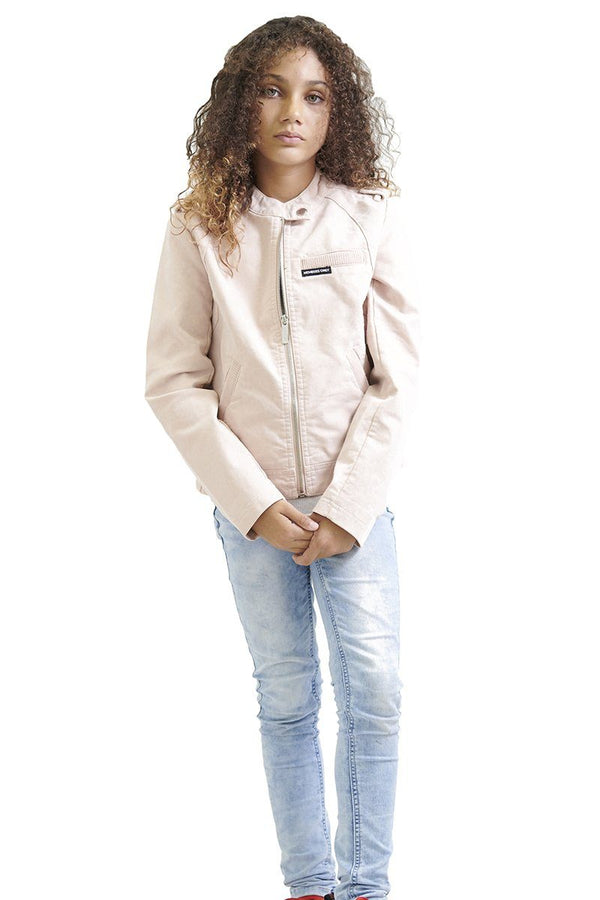 Girl's Iconic Moto Faux Suede Jacket - Members Onlyå¨ Official