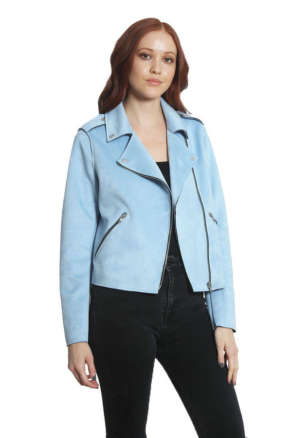 Women's Faux Suede Moto Jacket - Members Onlyå¨ Official