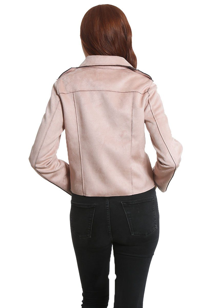 Women's Faux Suede Moto Jacket - Members Only® Official